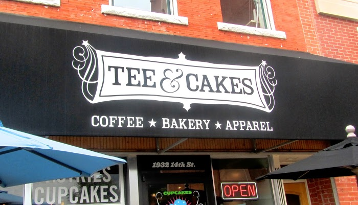 Tee and Cakes, where coffee, cake and T-shirts meet
