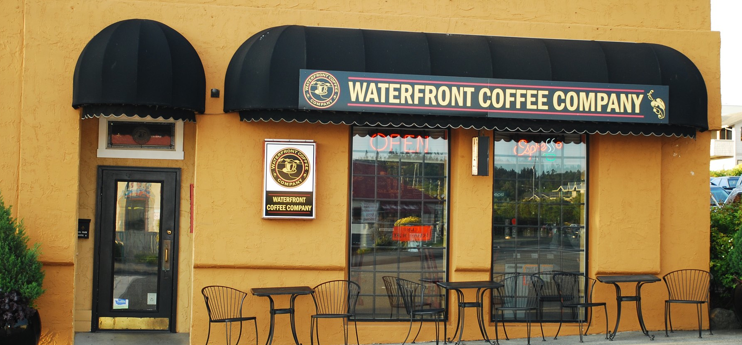 Waterfront Coffee Company the first or last stop for coffee.
