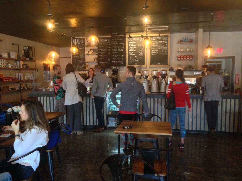 Maverick Coffee busy lobby