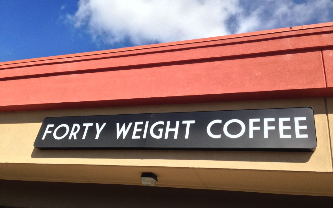 Forty Weight Coffee well worth its weight.
