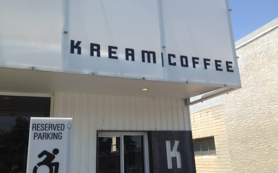 Kream Coffee rising to the top.