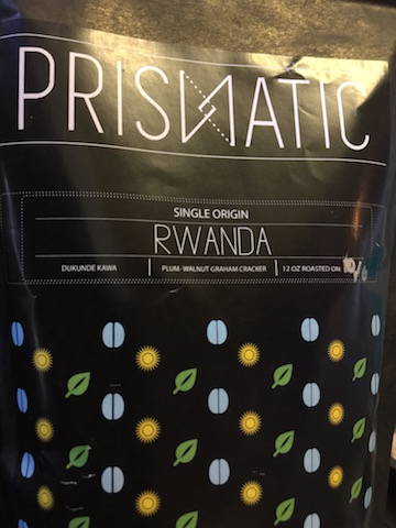 The colorful label of Prismatic