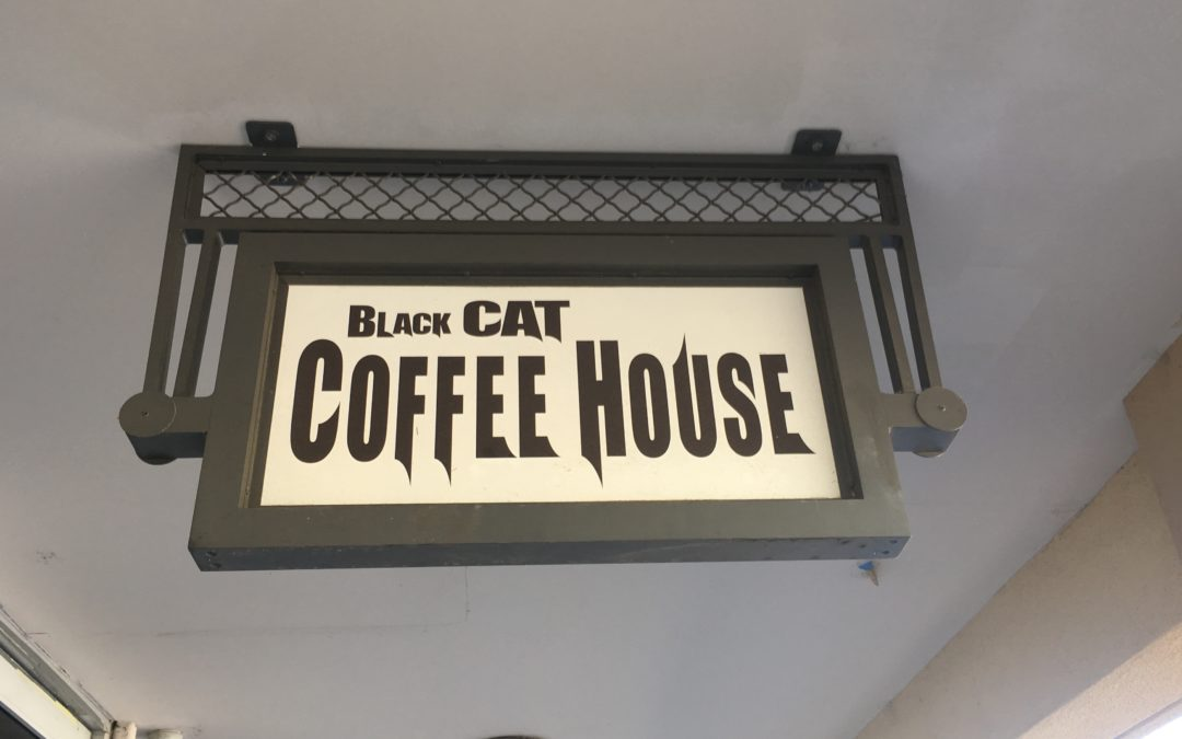 Black Cat Coffee House where the local cool cats go.