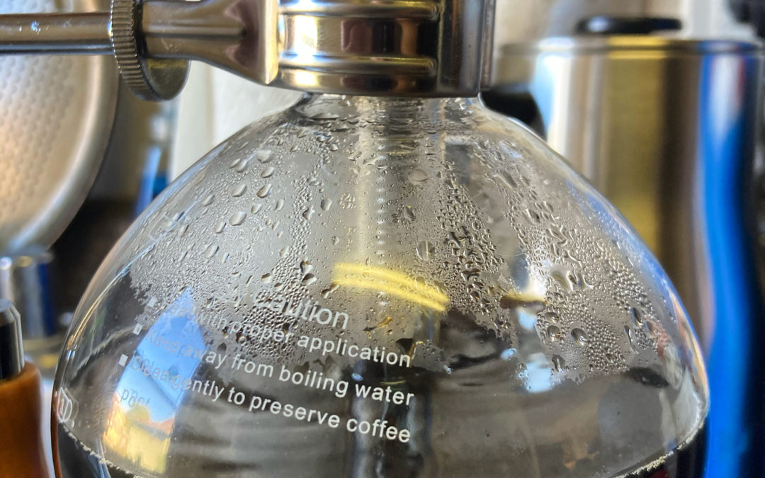 Coffee Siphon, a lab gimmick that really works.
