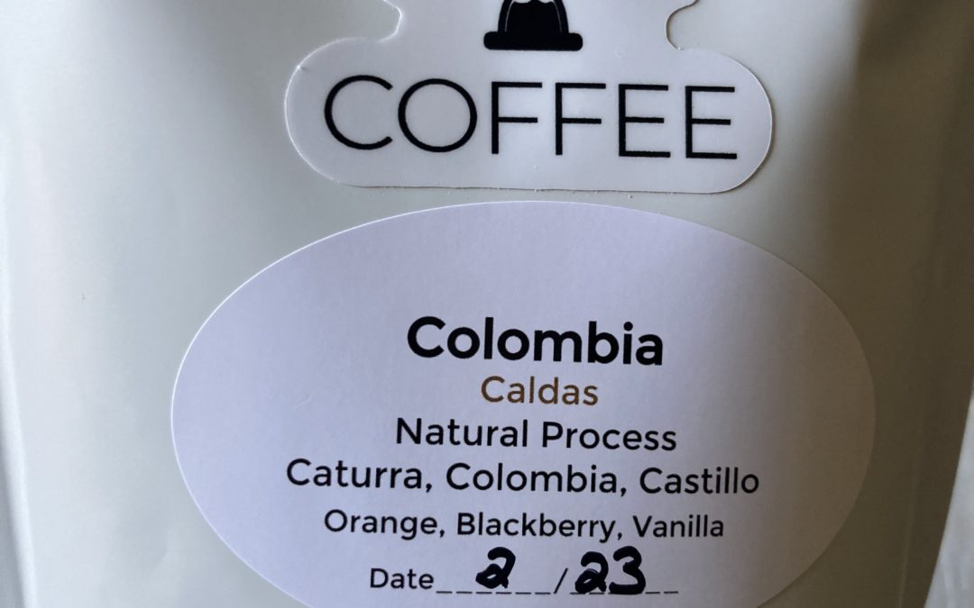 Grind Time Coffee Caldas from Colombia is a treat.